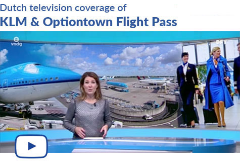 Dutch television coverage of KLM & Optiontown Flight Pass